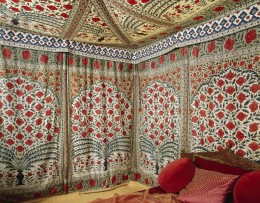 The Sultan Tipu's gloriously decorative tent, in the Clive Museum at Powis Castle, Powys, Wales. NTPL/Erik Pelham
